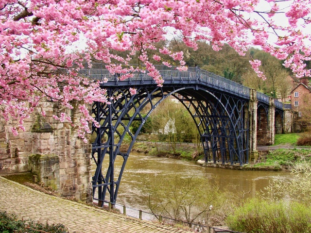 cherry blossom bridge by pixaby.com